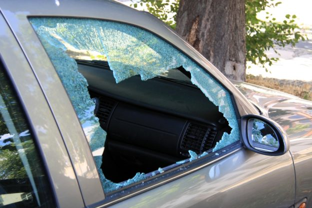 Smashed Car Window